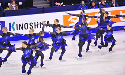 Synchro Skating Makes Grand Debut