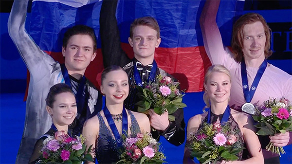 Boikova and Kozlovskii Lead Russian Sweep in Graz